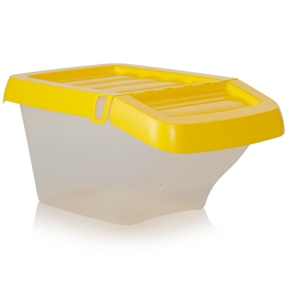 Buy 30lt Plastic Stacking Recycling Boxes With Hinged Lid