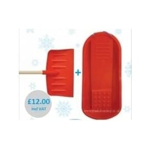 Snow Deal 1 - 'Old Faithful Snow Shovel' + Red Plastic Swordfish Sledge