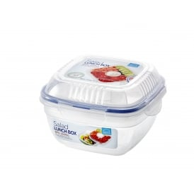 Square Salad Lunch Box with Tray and Dressing Pot