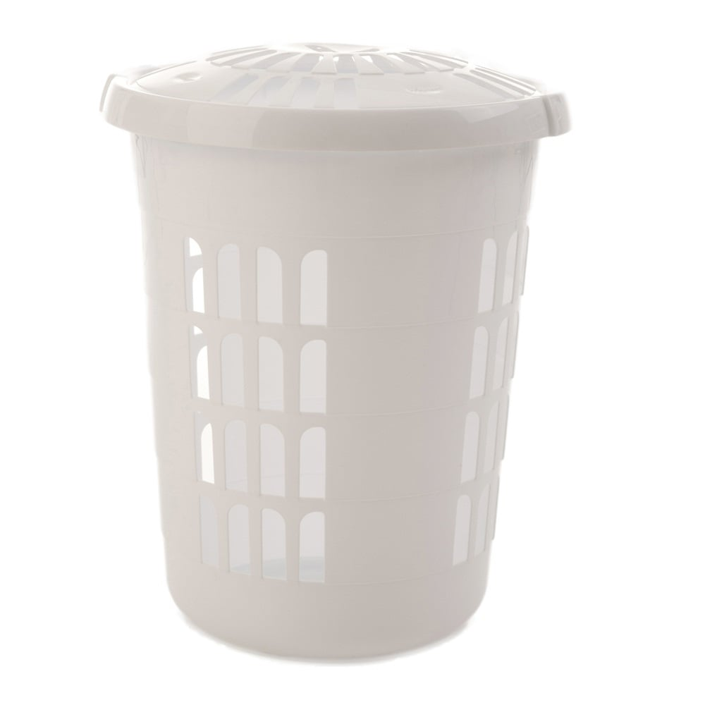 Buy Tall Round Laundry Storage Hamper Basket