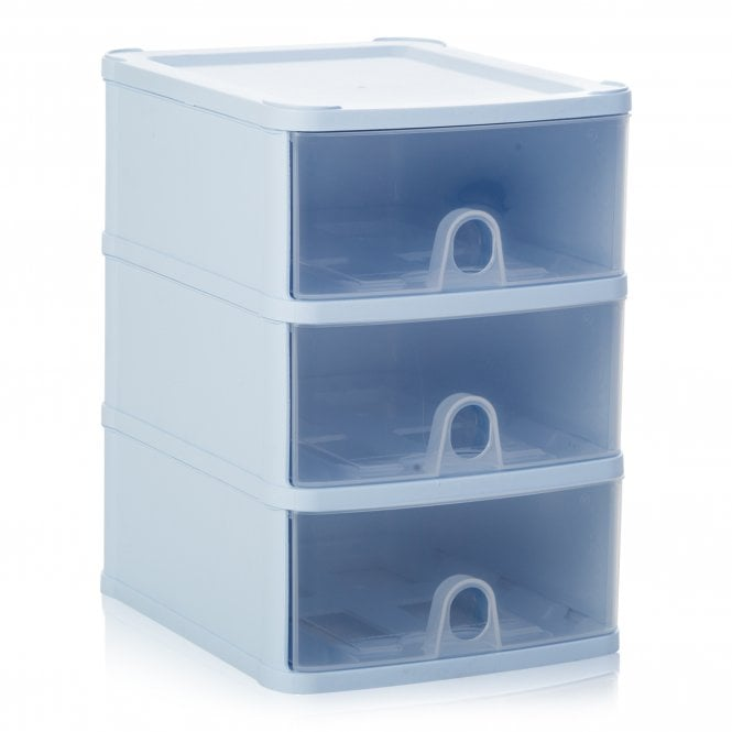 Wham Handy Plastic Stackable Three 3 Drawer Unit A5 Paper