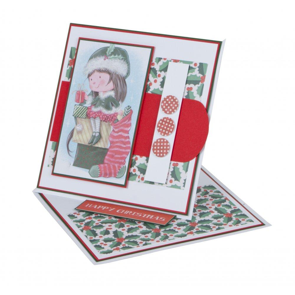 Christmas Greeting Card Making.Wham Craft Time Christmas Greeting Card Making Set 12979